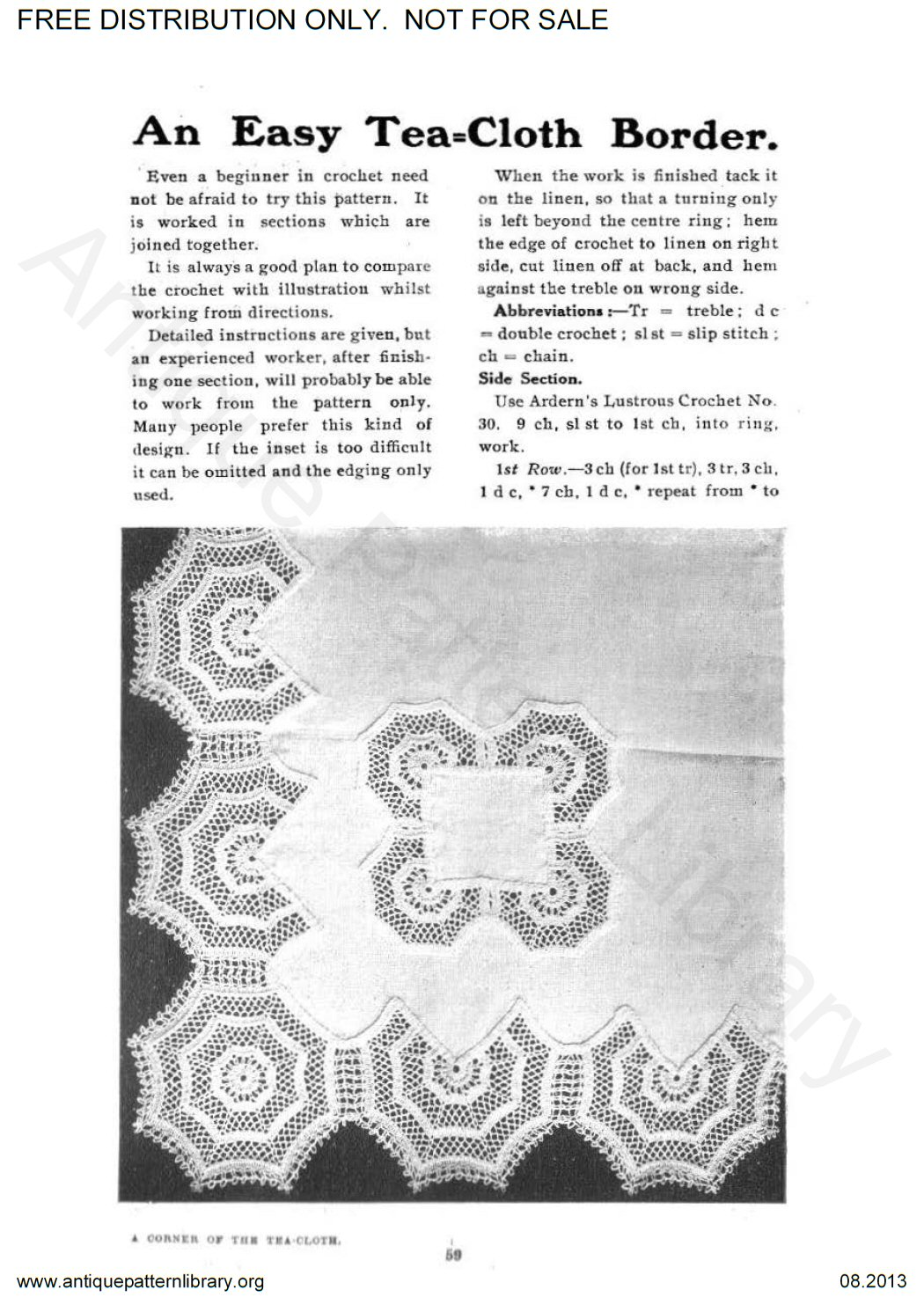6-EN001 The Home Art Series Artistic Crochet
