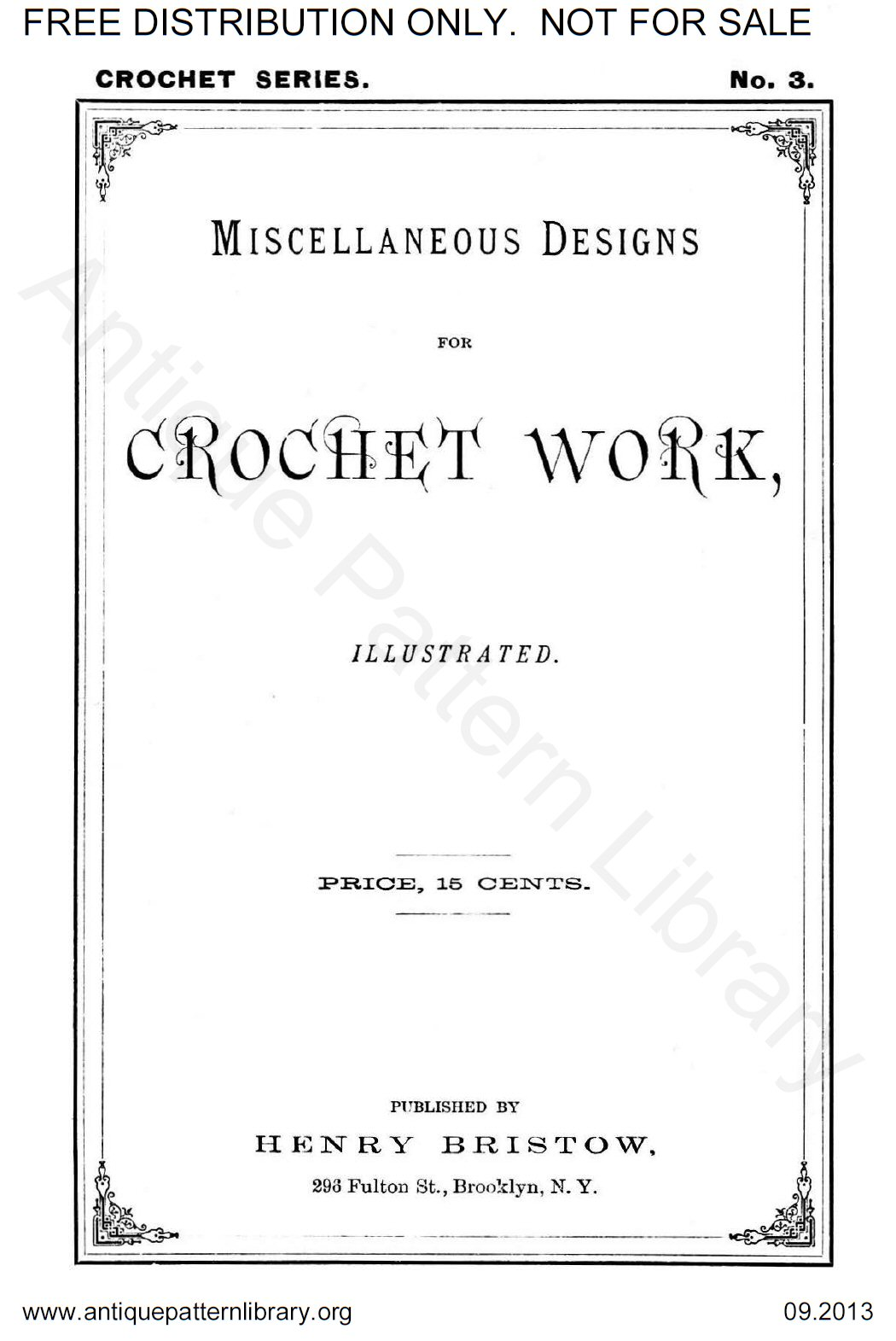 6-JA009 Miscellaneous Designs for Crochet Work, Illustrated