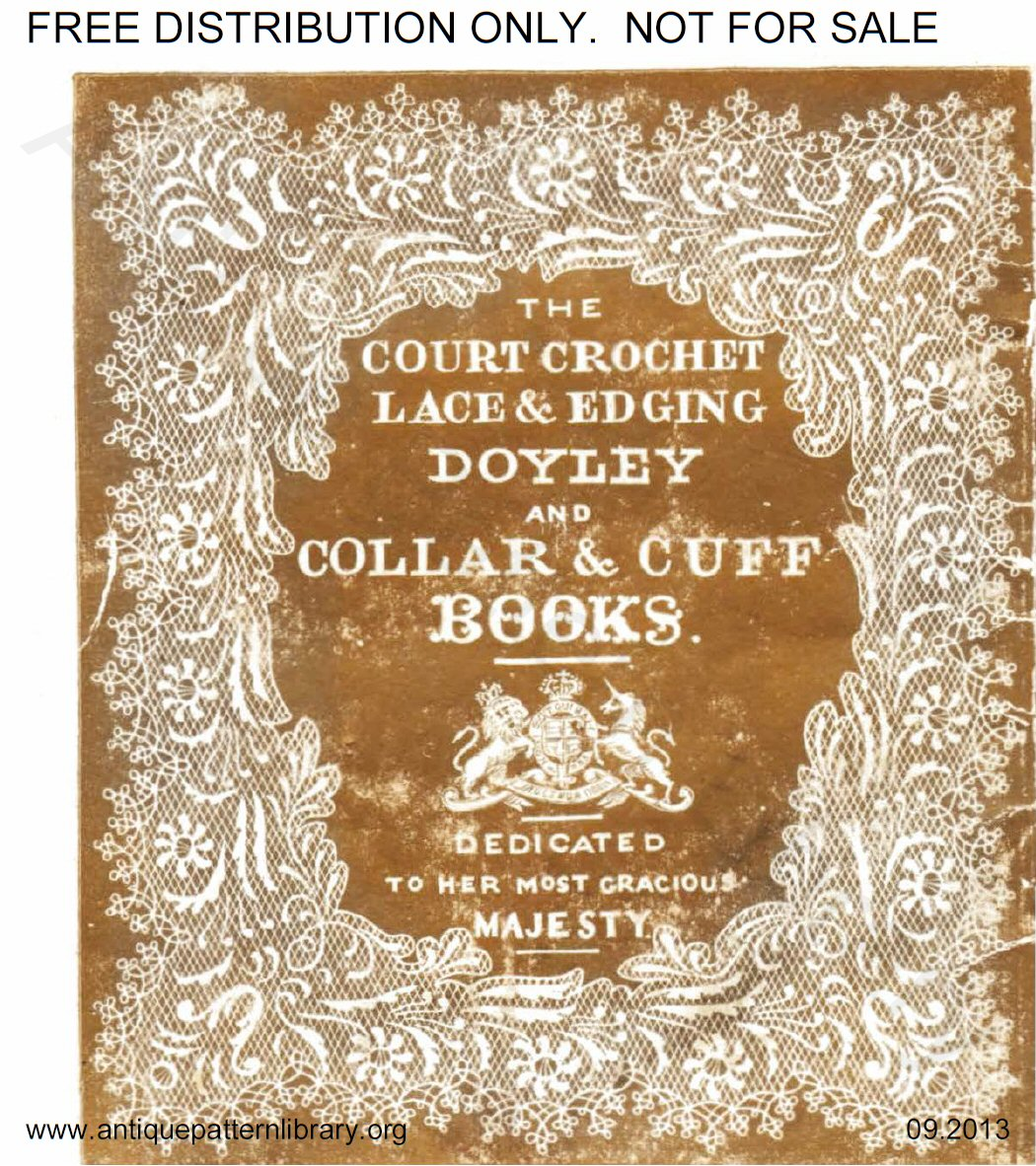 6-JA015 The Court Crochet Doyley Book
