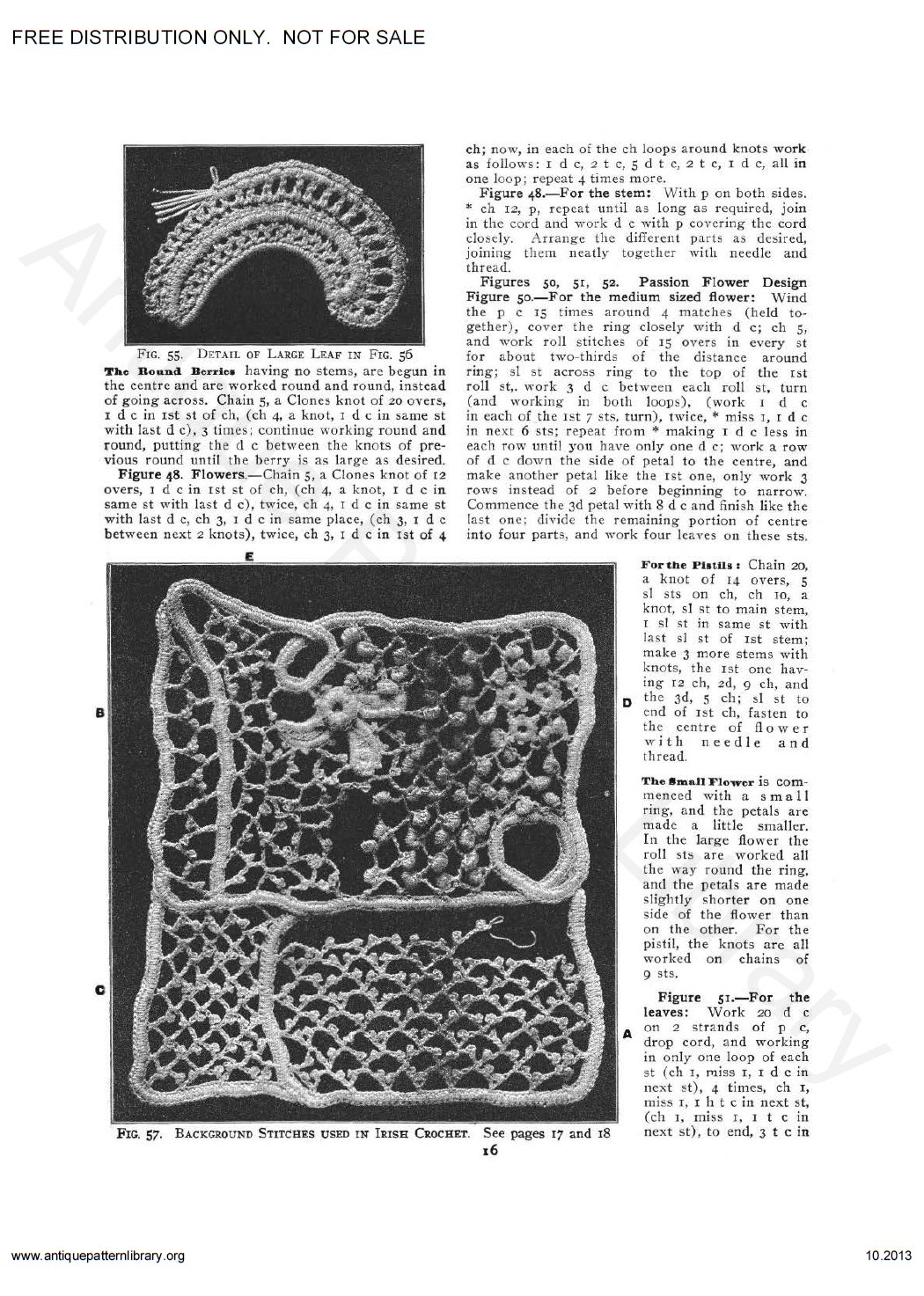 6-JA034 Priscilla Irish Crochet Book