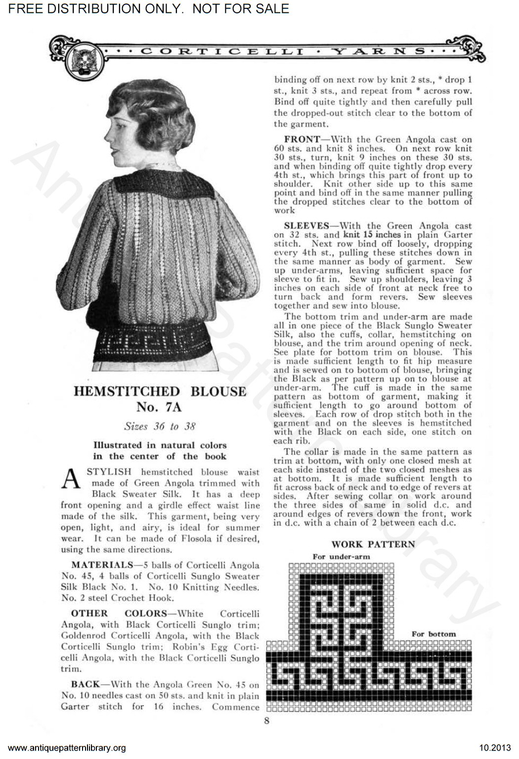 6-JA038 Corticelli Knitting and Crochet Book No. 18.