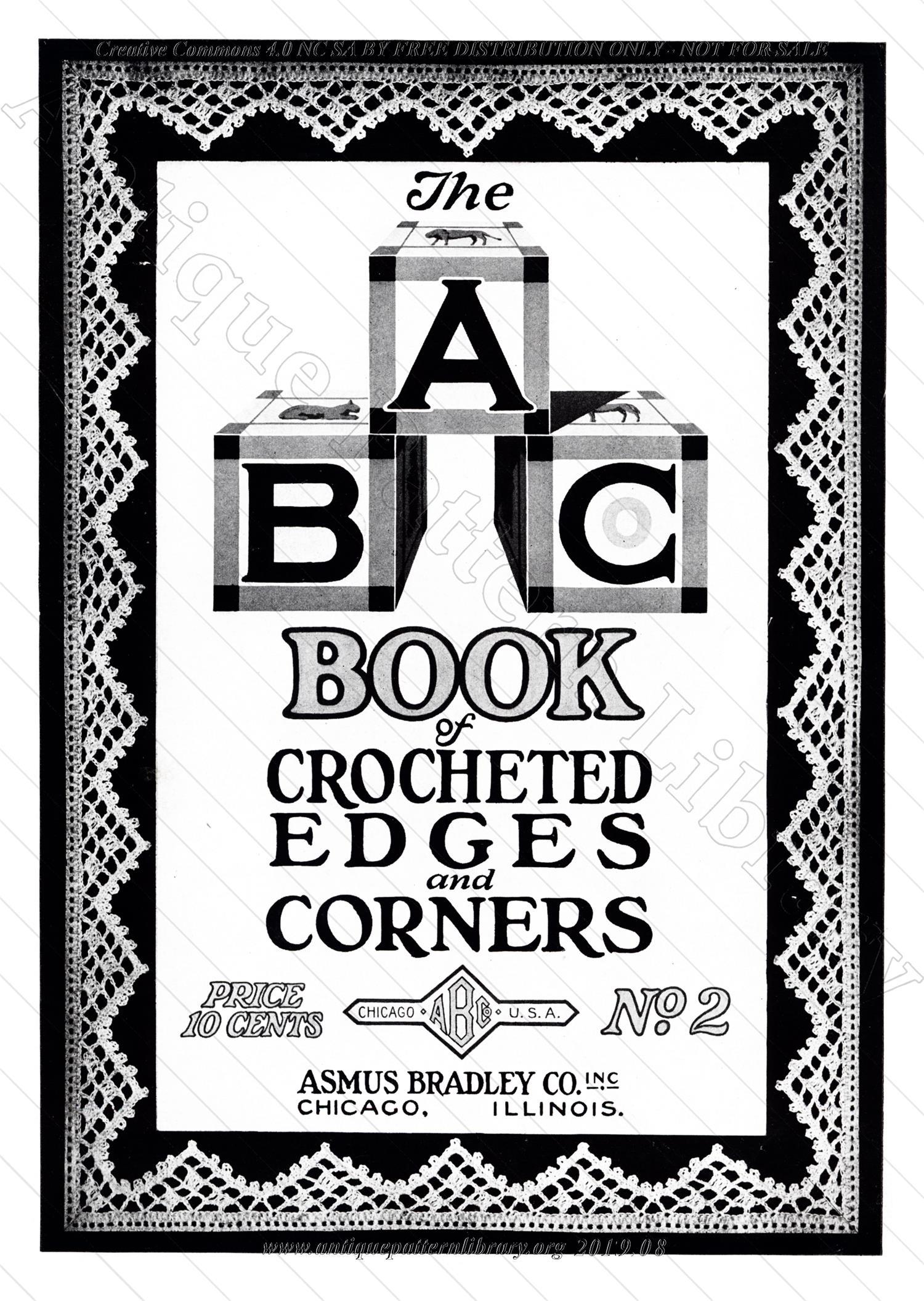 B-JA046 A B C Book of Crocheted Edges and Corners, No. 2
