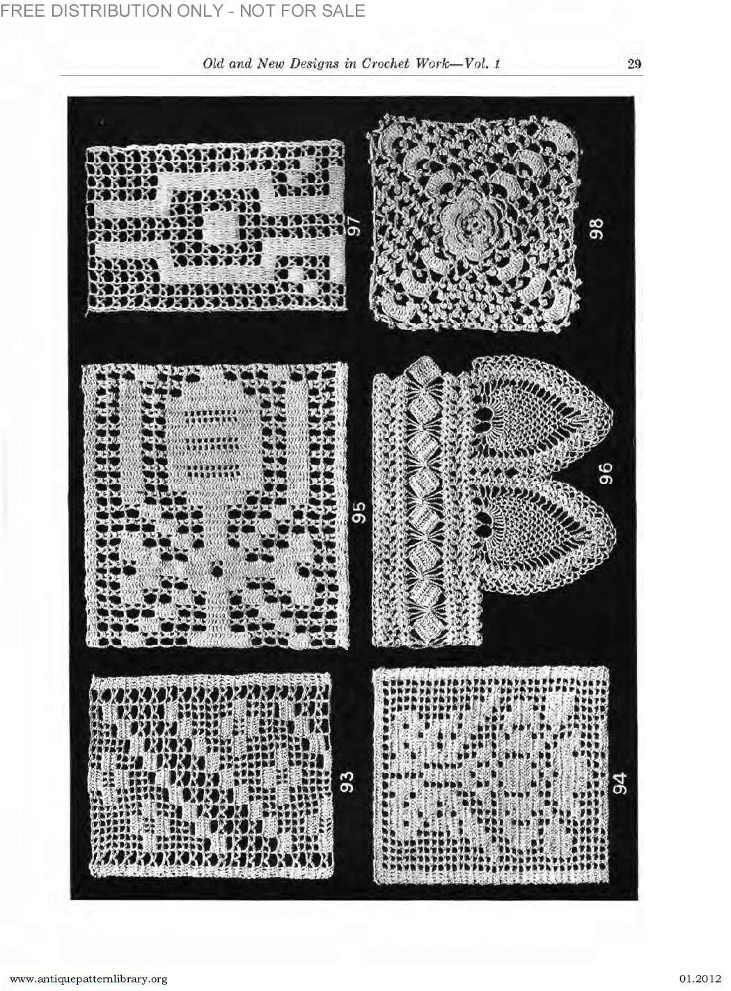 antique pattern library crochet antique pattern library