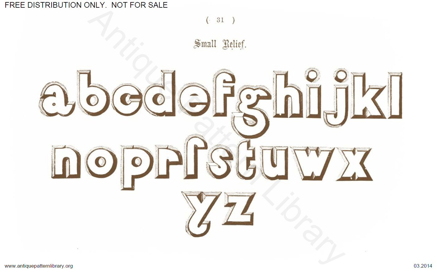 B-YS031 Delamotte, Examples of Modern Alphabets