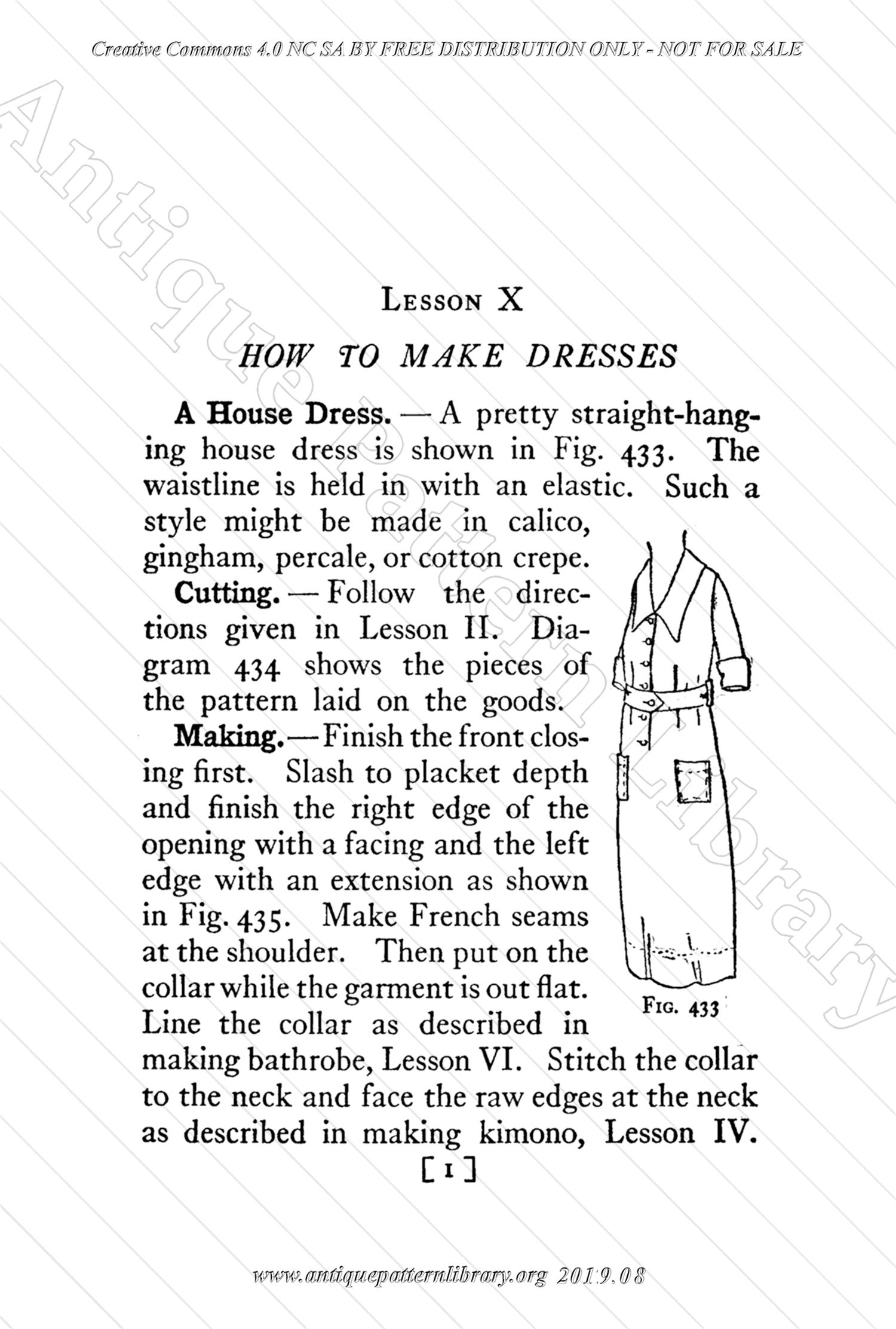 B-YS105 Complete Course in Dressmaking in Twelve Lessons: