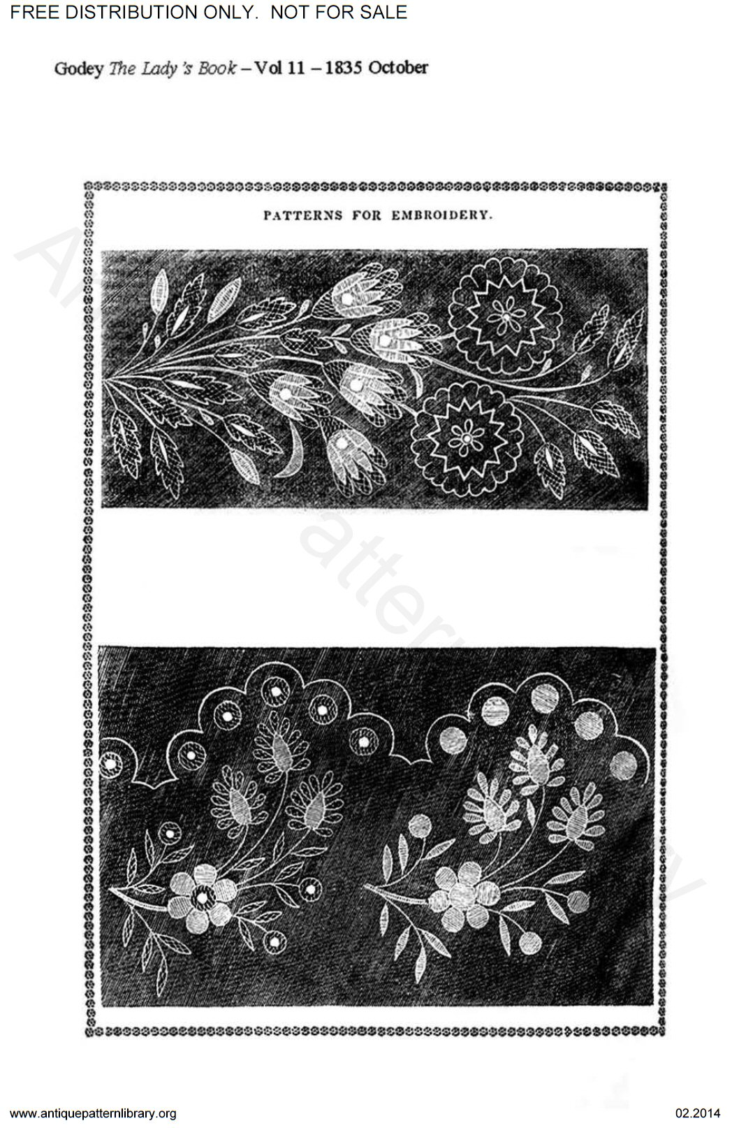 C-HW002 Godey's needlework patterns