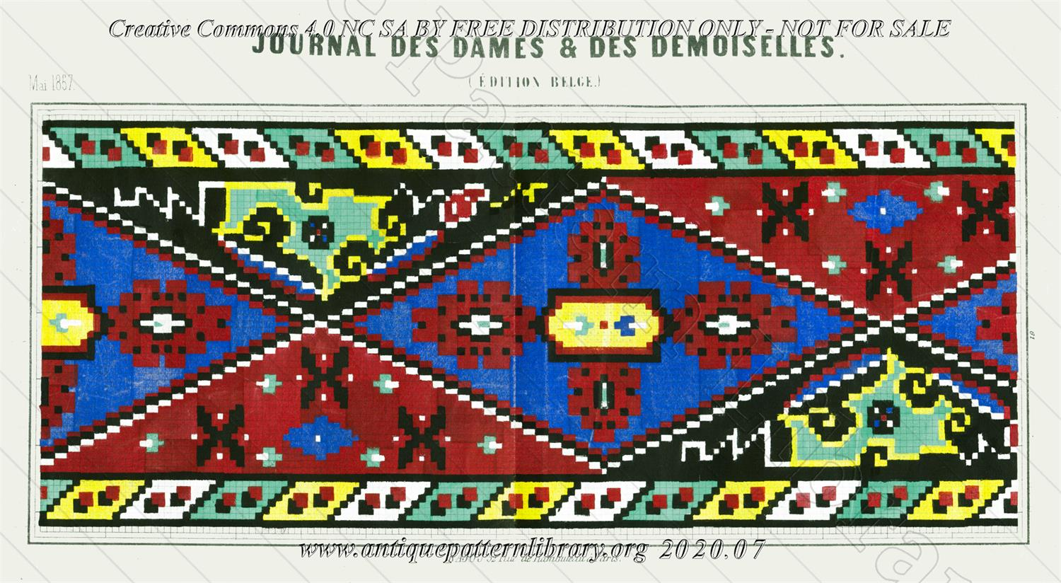 C-YS659 Geometrical border in primary colors
