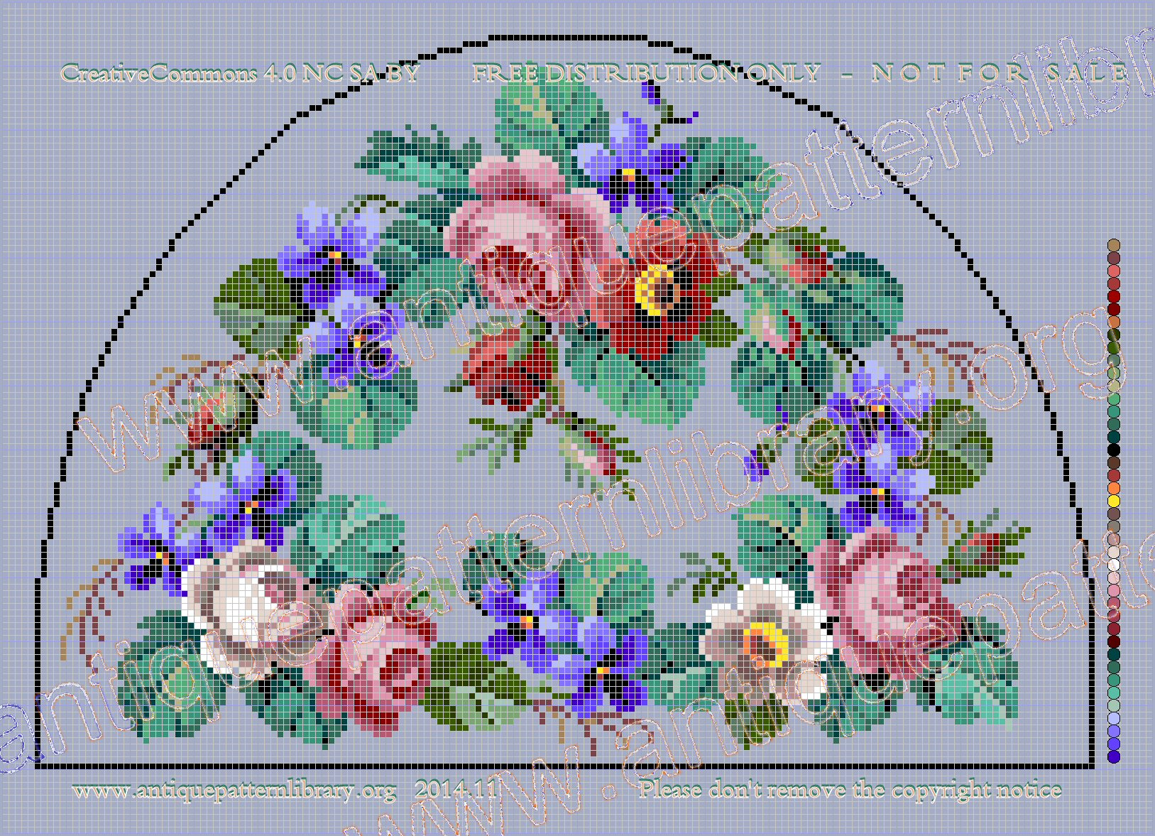 E-AL004 Tea cosy with roses and violets