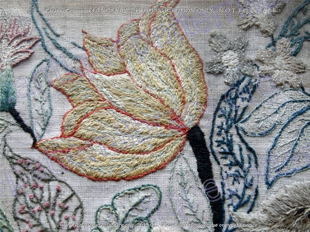 E-EE004 17th century English Crewelwork