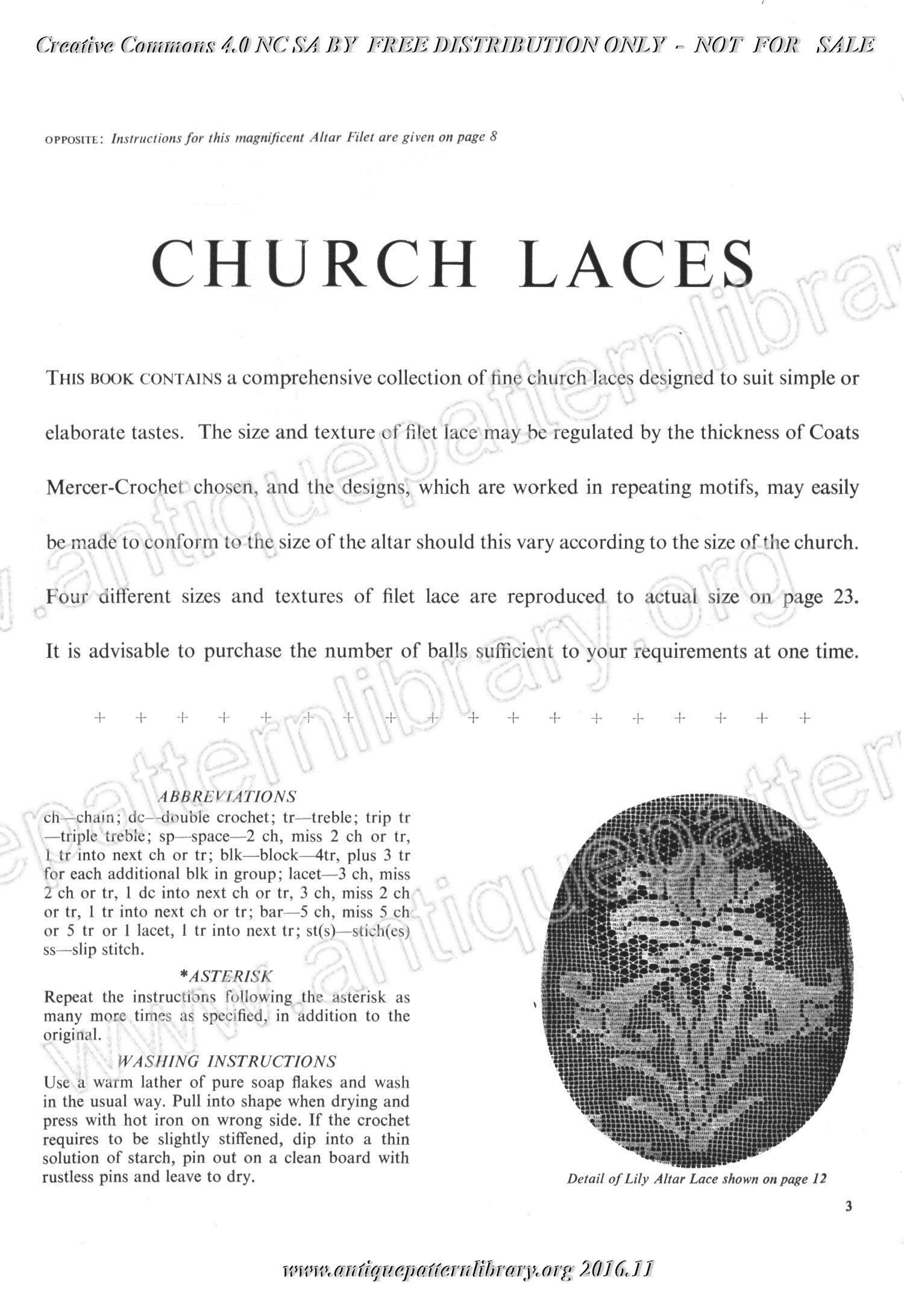 E-WM041 Church Laces