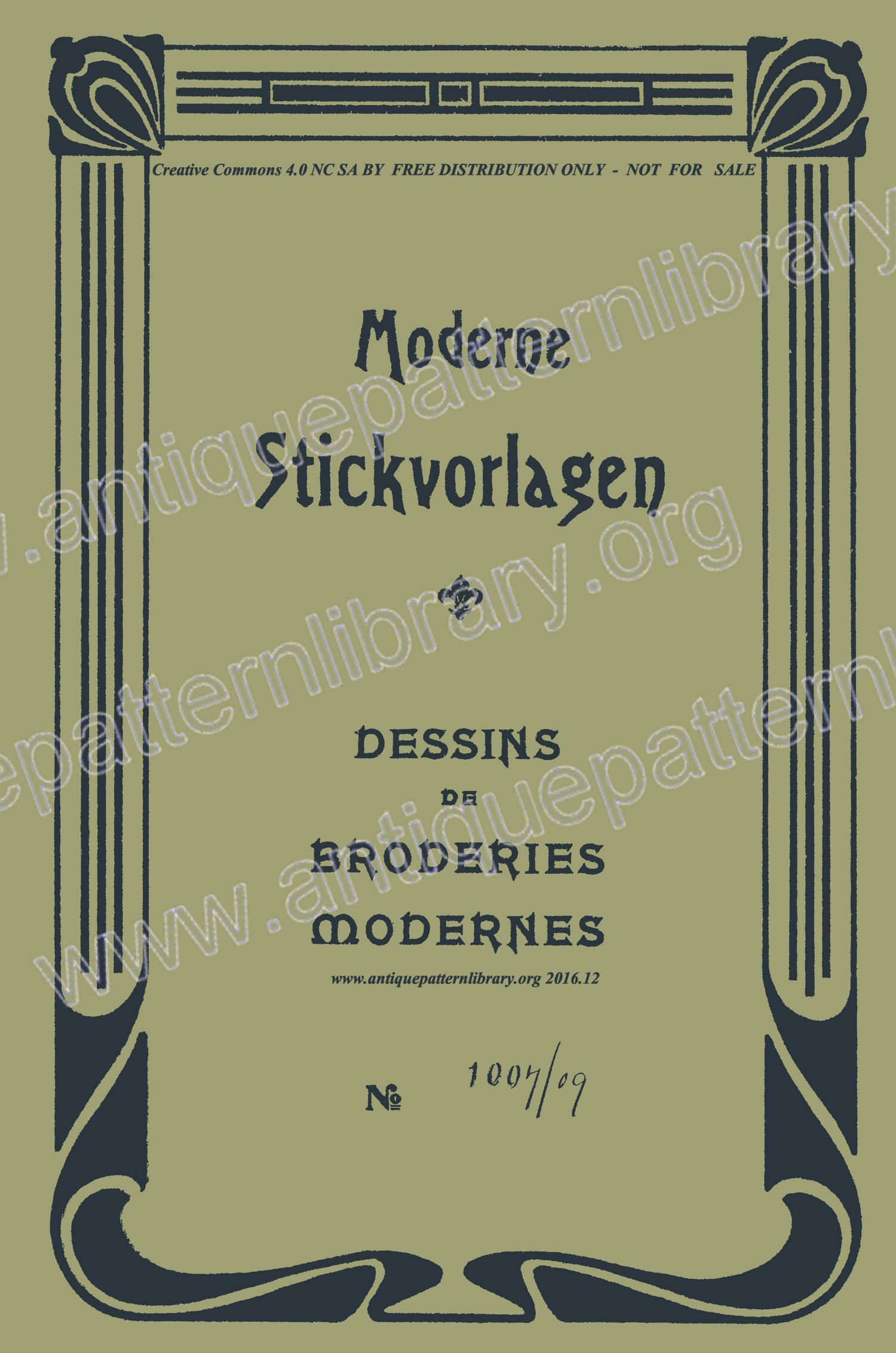 F-IS009 Moderne Stickvorlagen, Dessins de broderies modernes