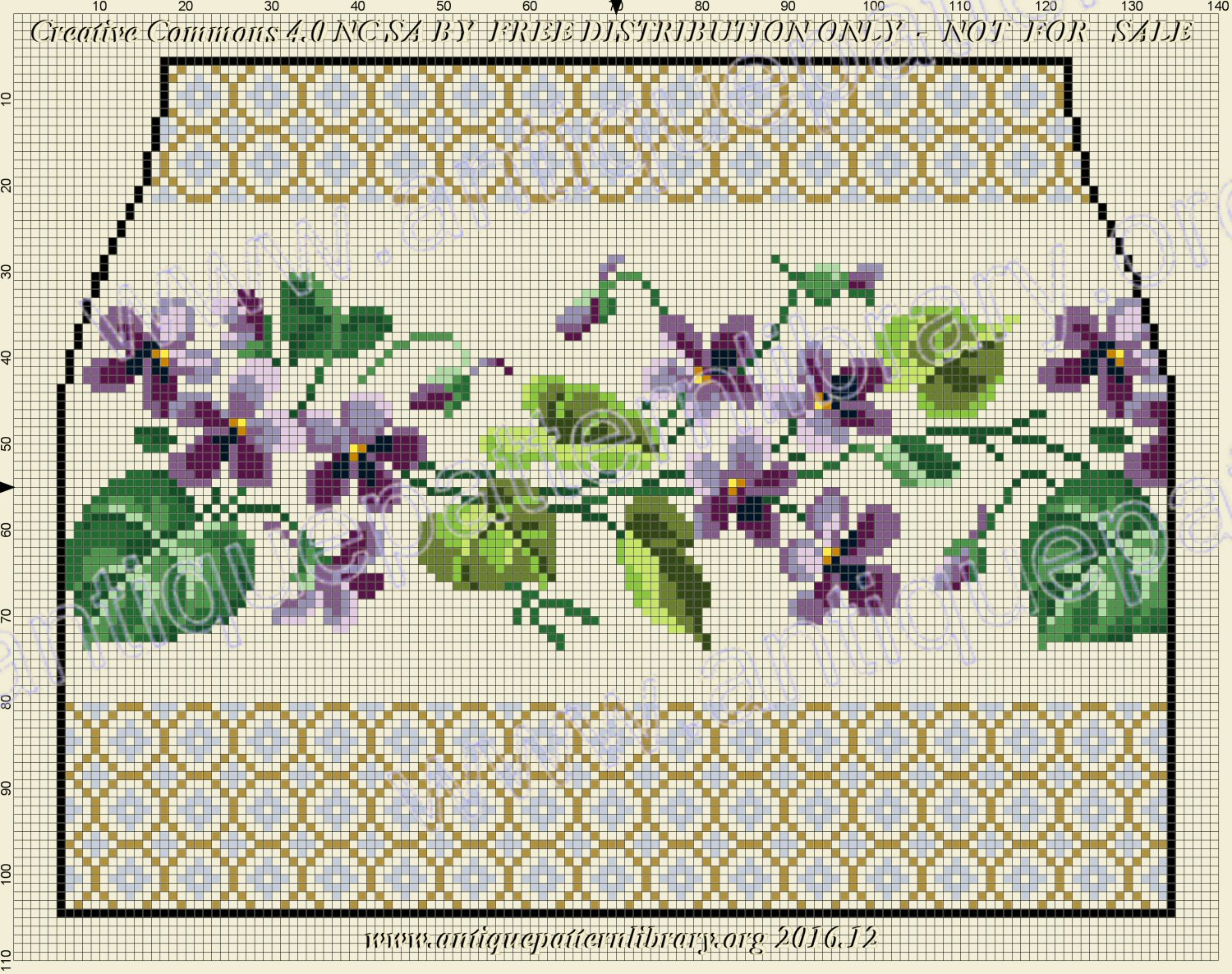 F-IS011 Purse pattern with violets