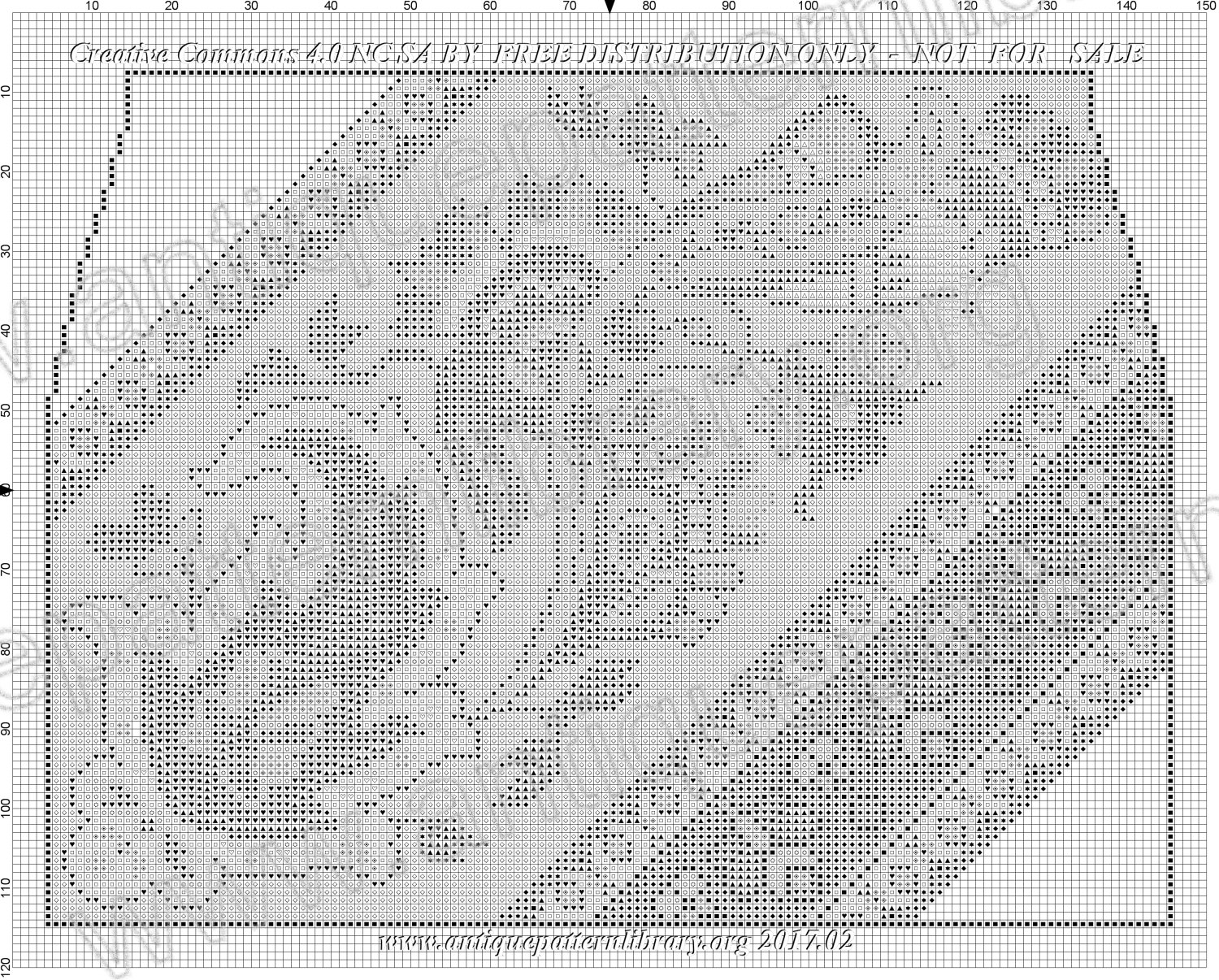 F-IS027 Handpainted embroidery pattern for a purse.