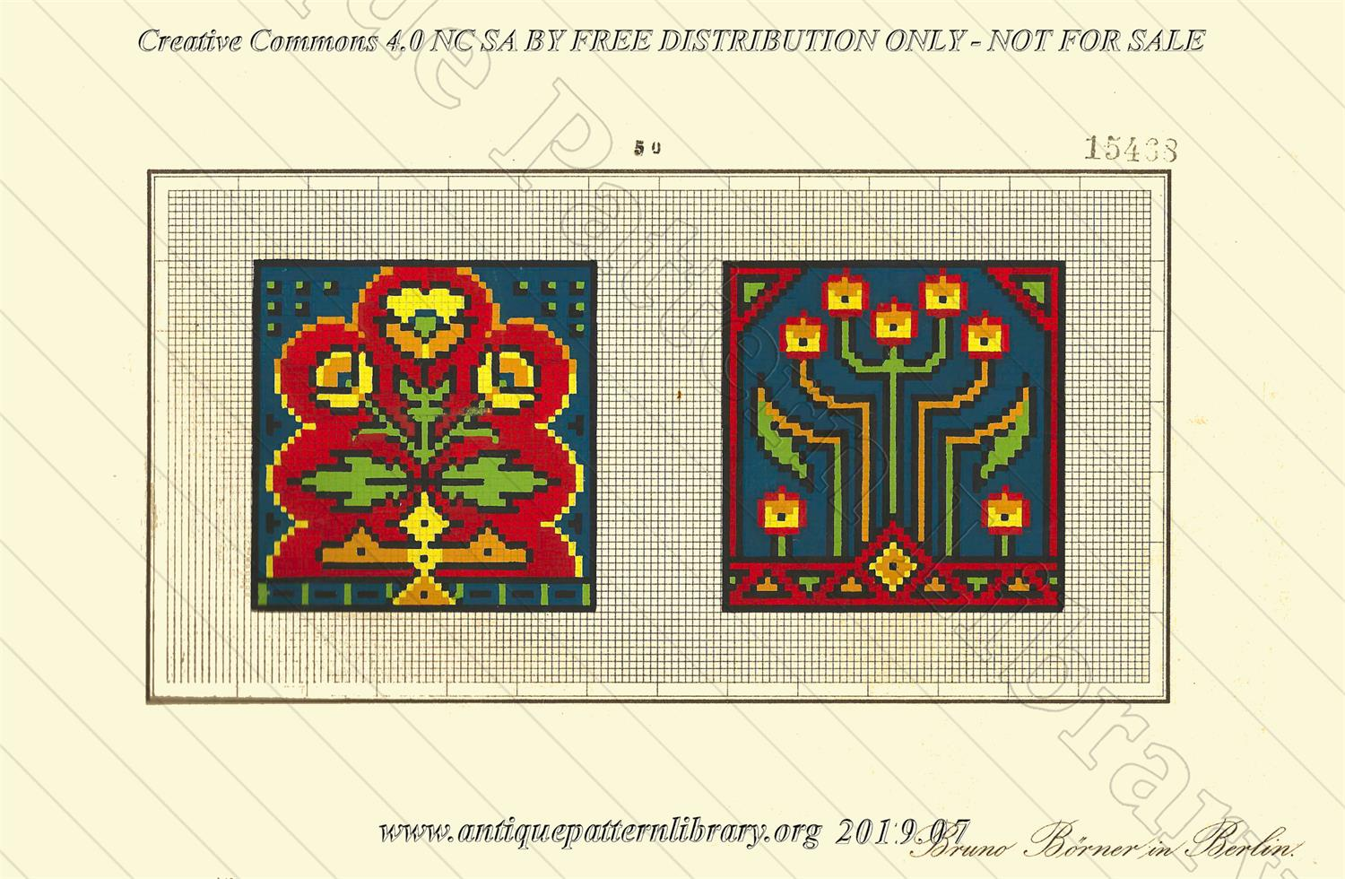 F-IS075 Two small square designs