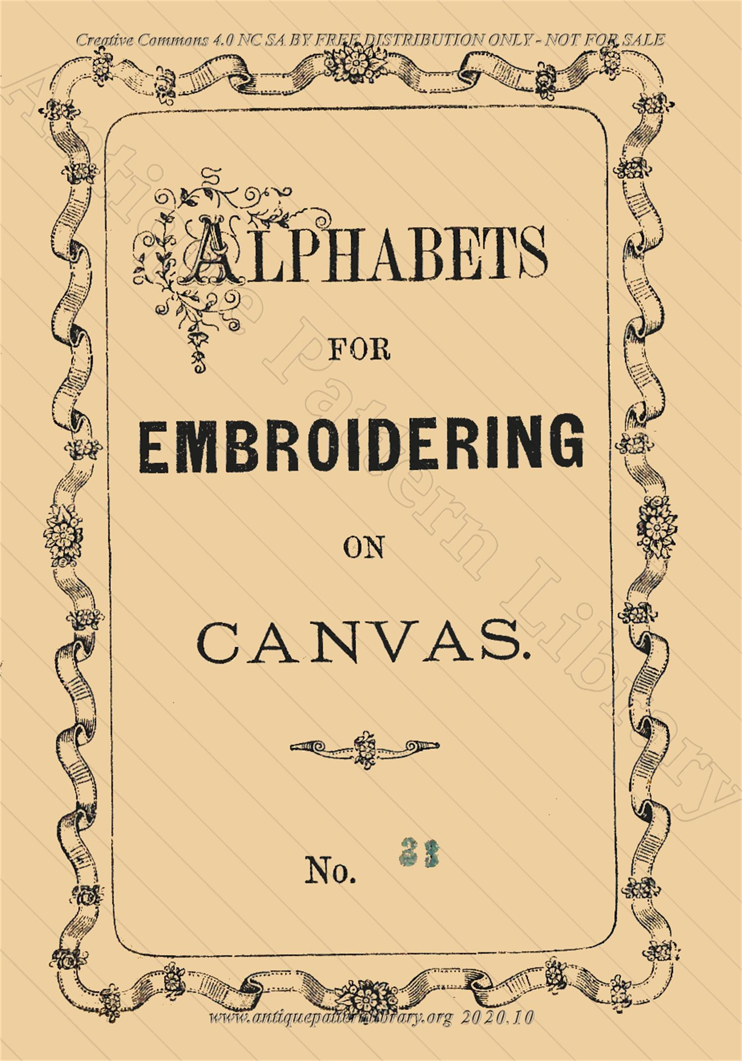 F-IS097 Alphabets for Embroidering on Canvas