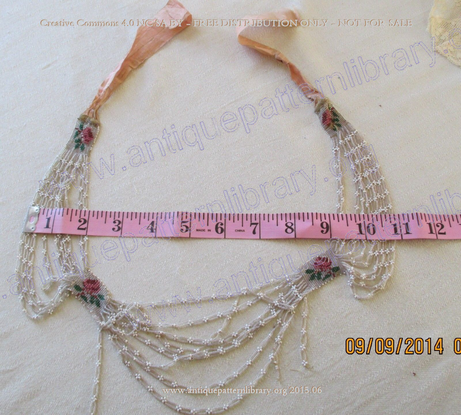 F-NE001 Victorian beaded necklace