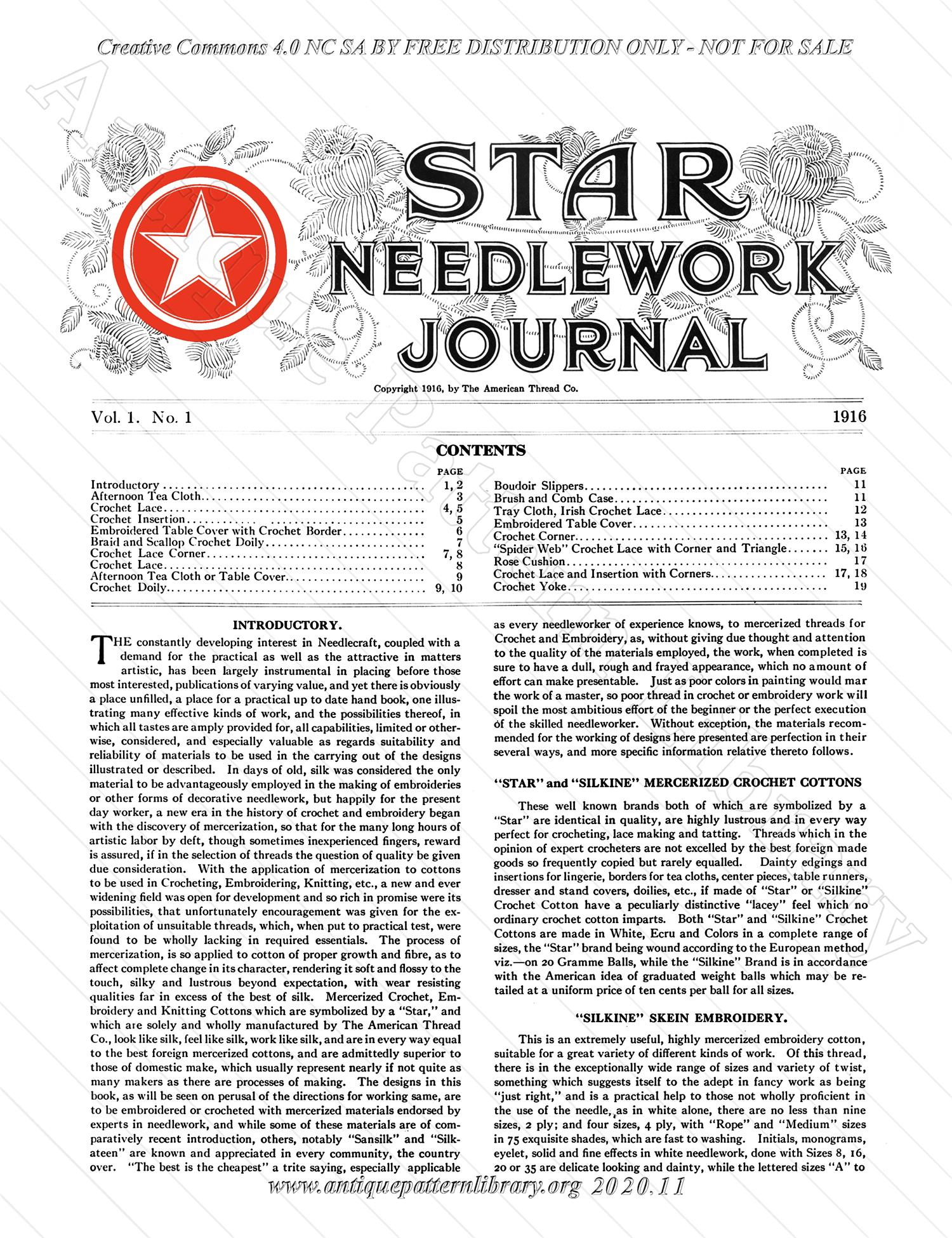 F-WM135 Star Needlework Journal