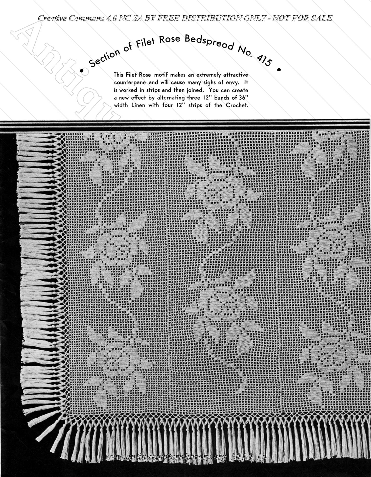 G-KR016 Hand Crocheted Colonial Bedspreads