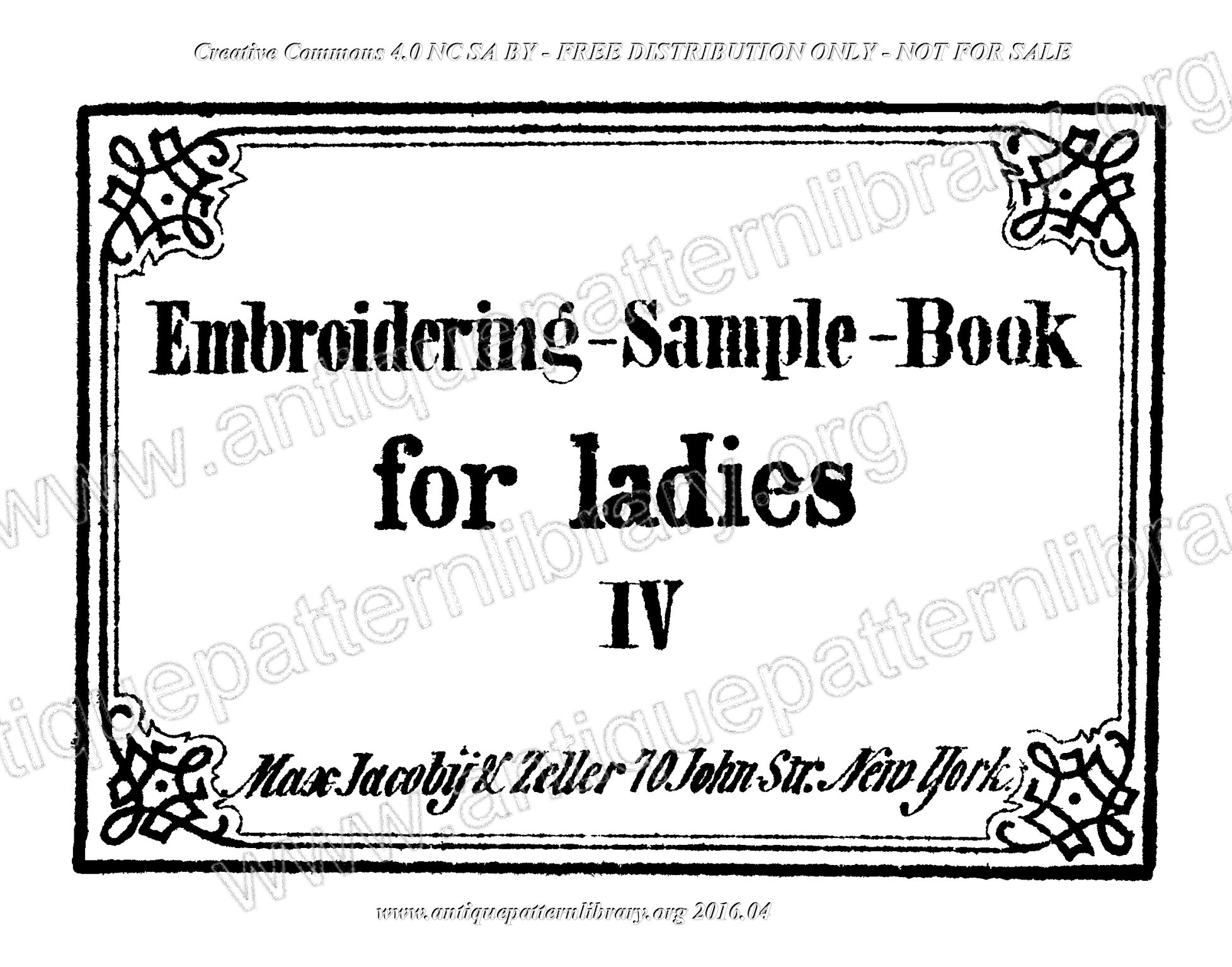 G-MR001  Embroidering-Sample-Book for ladies
