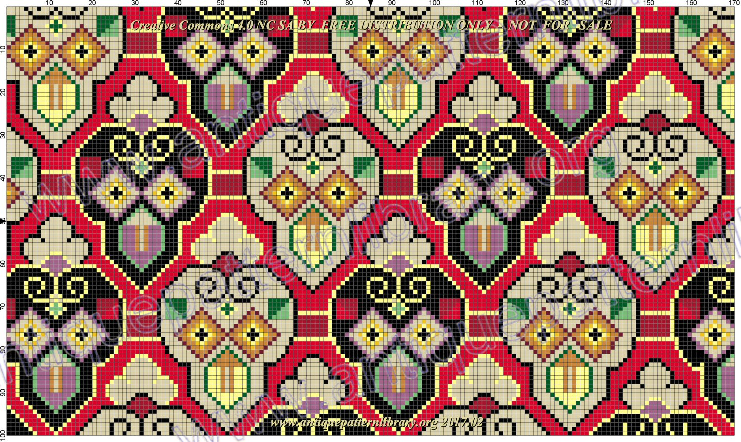 H-AW001 Antique needlepoint cushion cover front