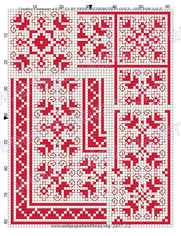 Colorful Stickmuster Crest - Decke Stricken Muster ...