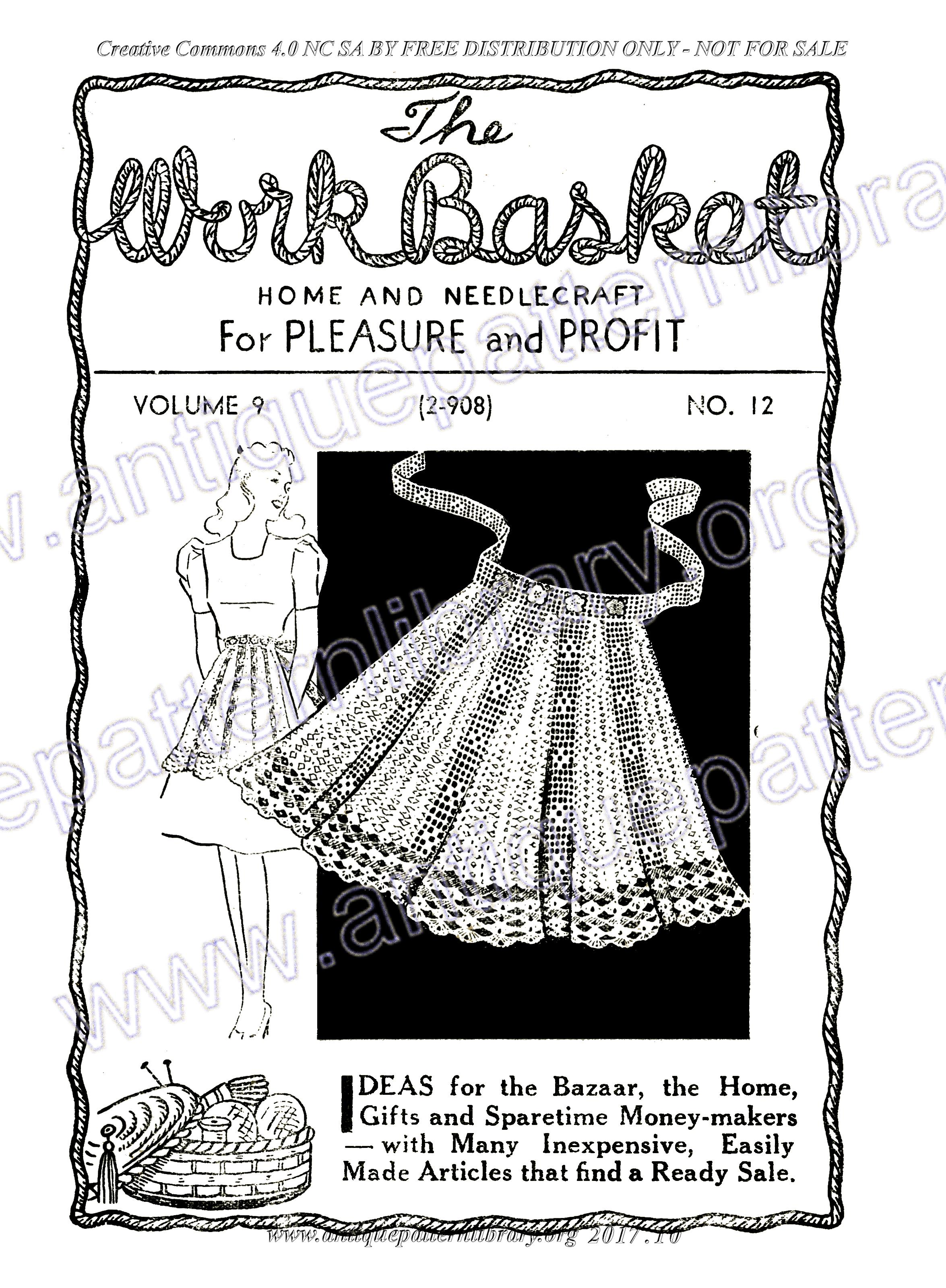 APL - H-ME001 The Workbasket Magazine Vol. 9 No. 12 Page 1 - Front cover