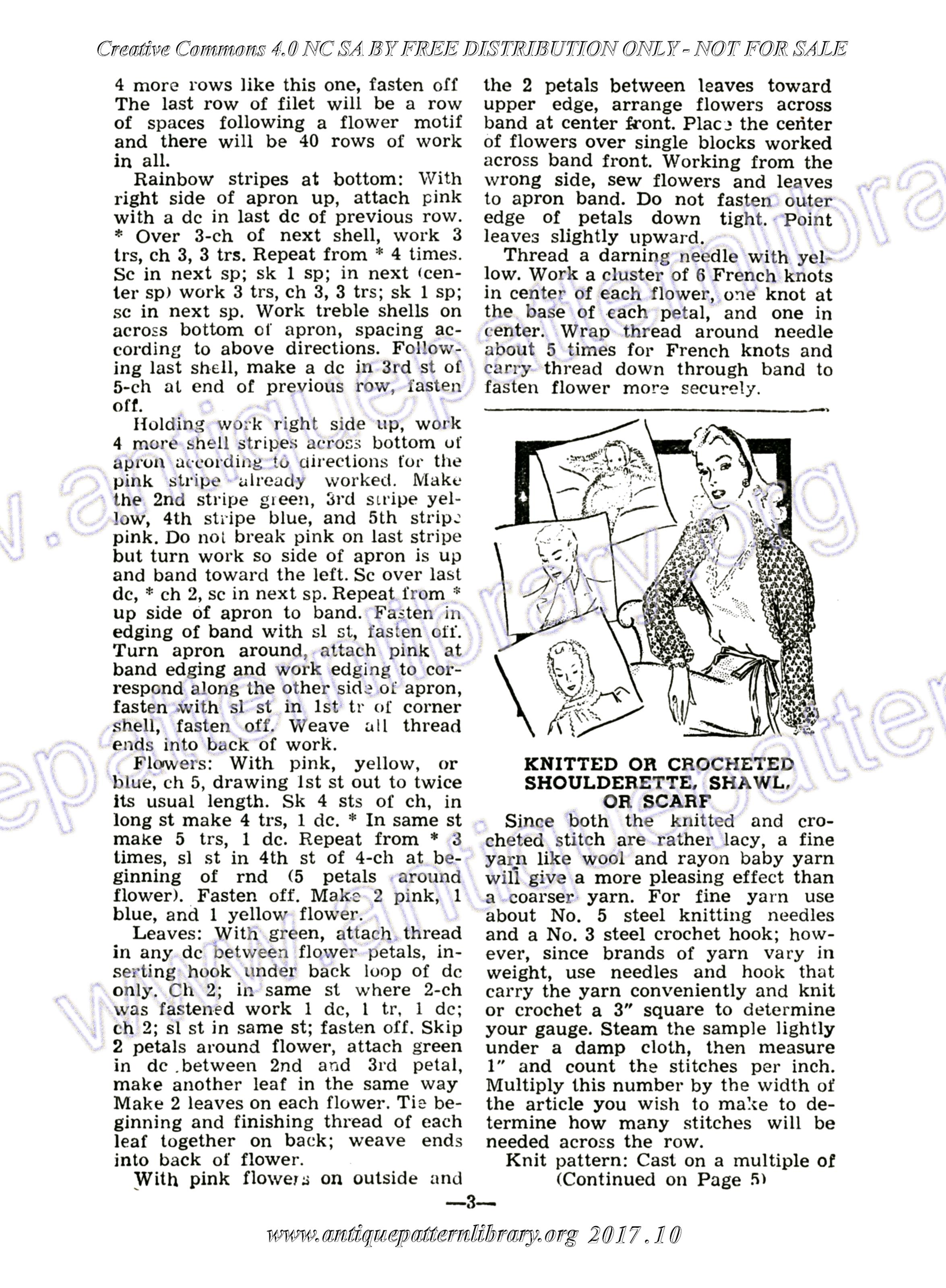 APL - H-ME001 The Workbasket Magazine Vol. 9 No. 12 Page 3 - Knitted ...