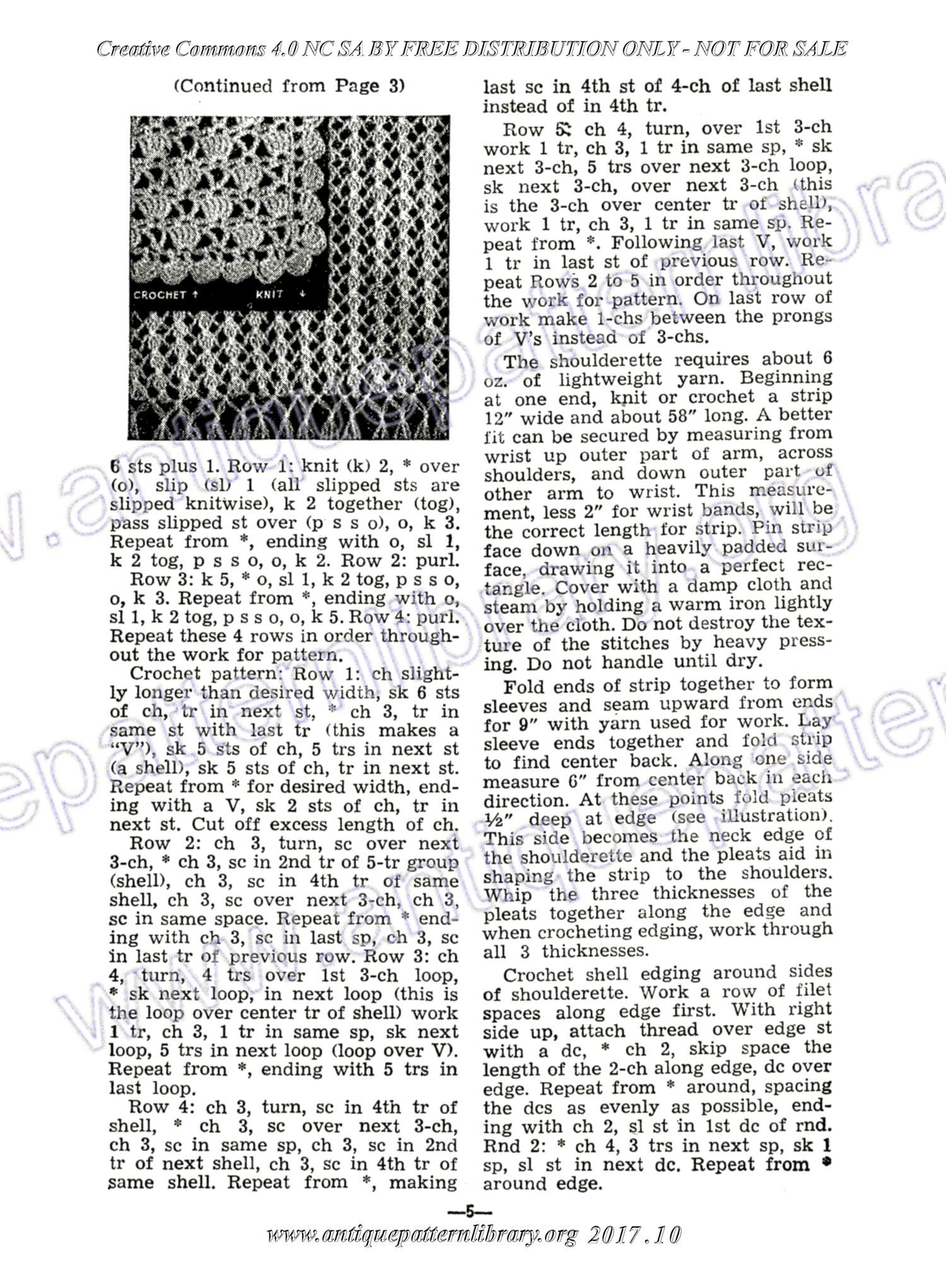 APL - H-ME001 The Workbasket Magazine Vol. 9 No. 12 Page 5 - Knitted ...