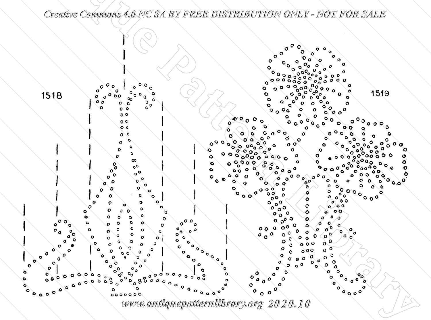 H-WS011 Conventional Embroidery Motifs for Tracing or Stamping.