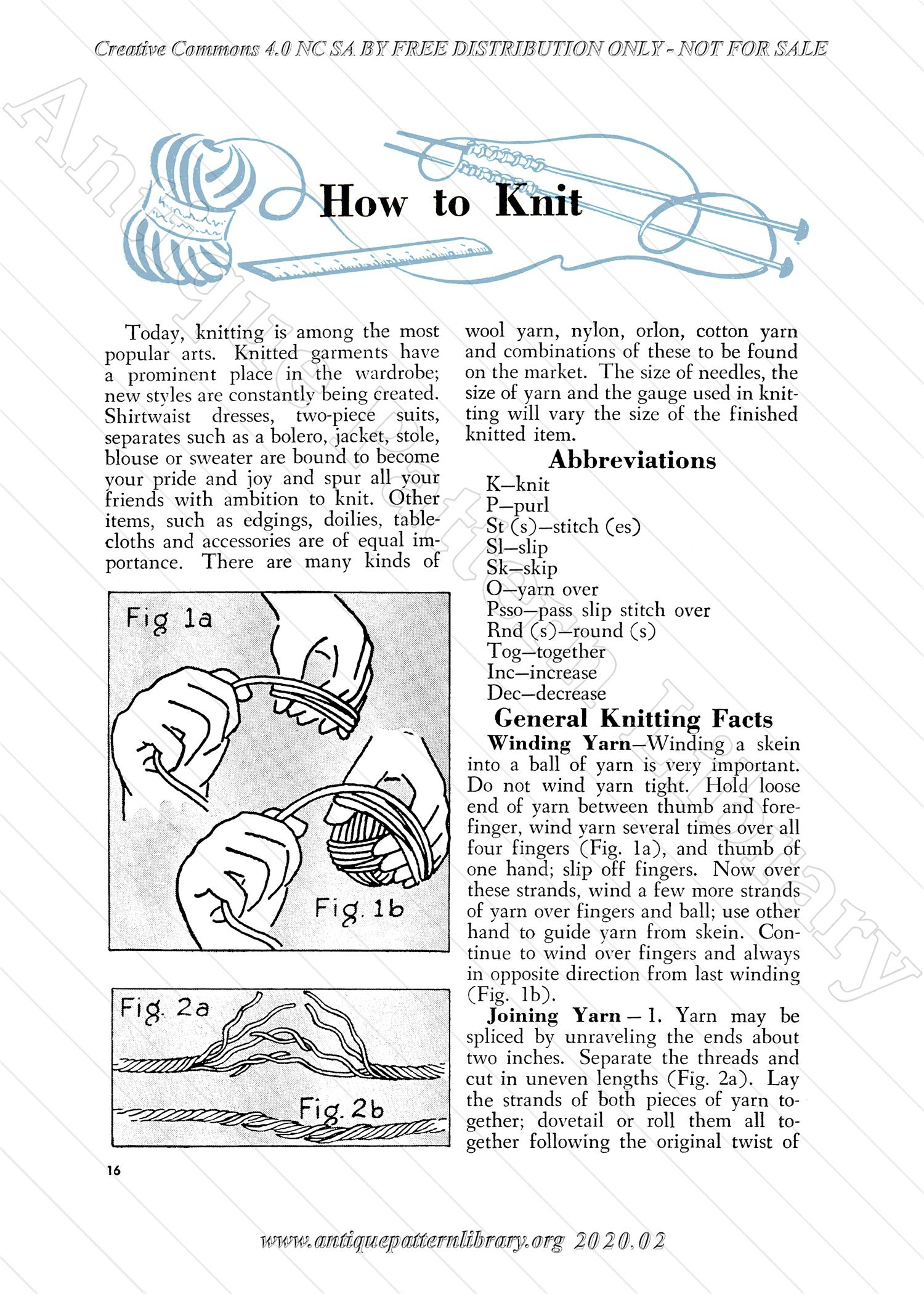 K-AK001 Aunt Ellen's How To Book on Needlework