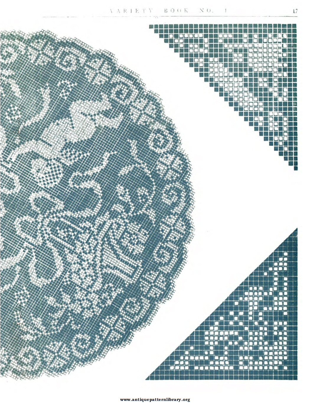 6-DA009 Variety Italian Cut Work and Filet Lace Book No. 1.