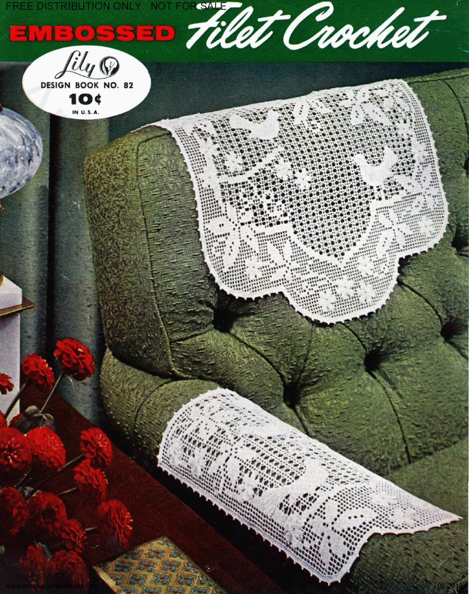 6-TA013 Lily 82 Embossed Crochet