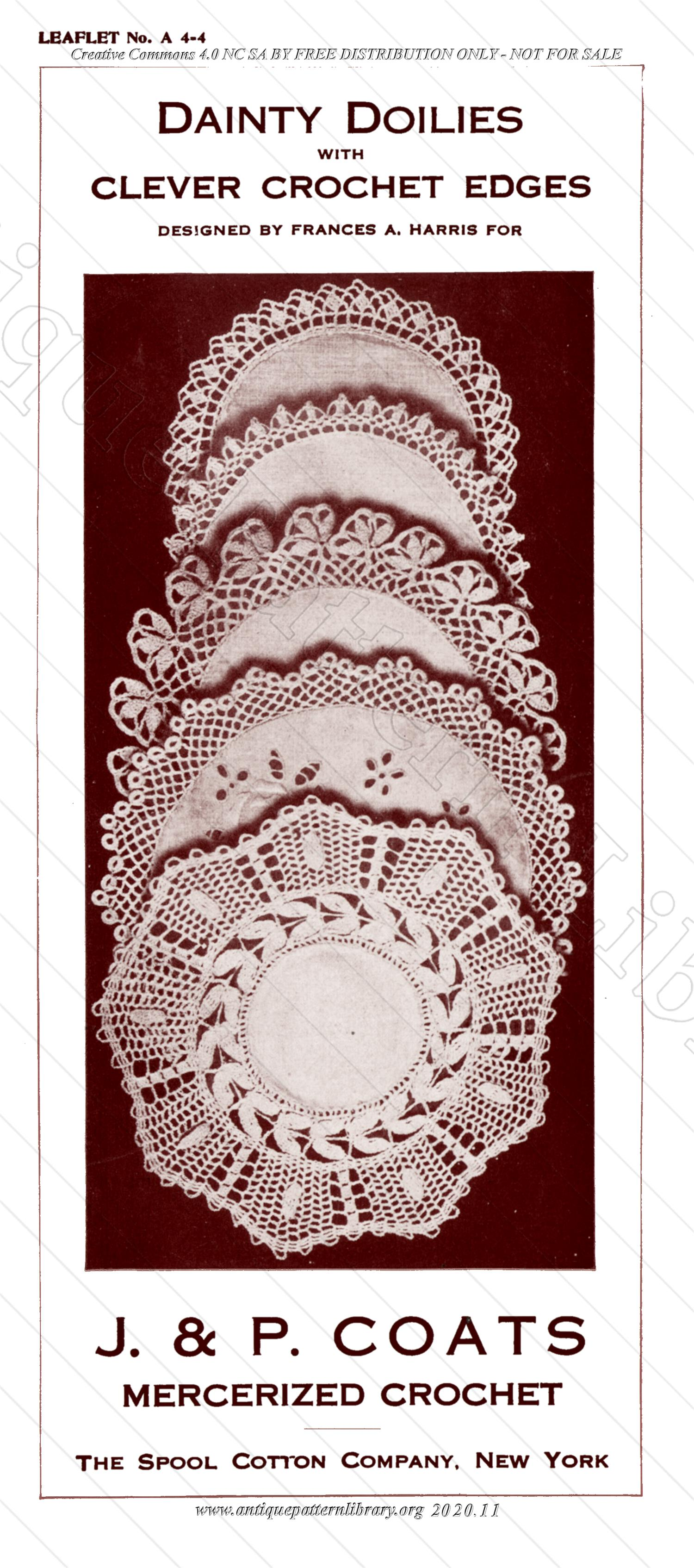 E-WM063 Dainty Doilies with Clever Crochet Edges