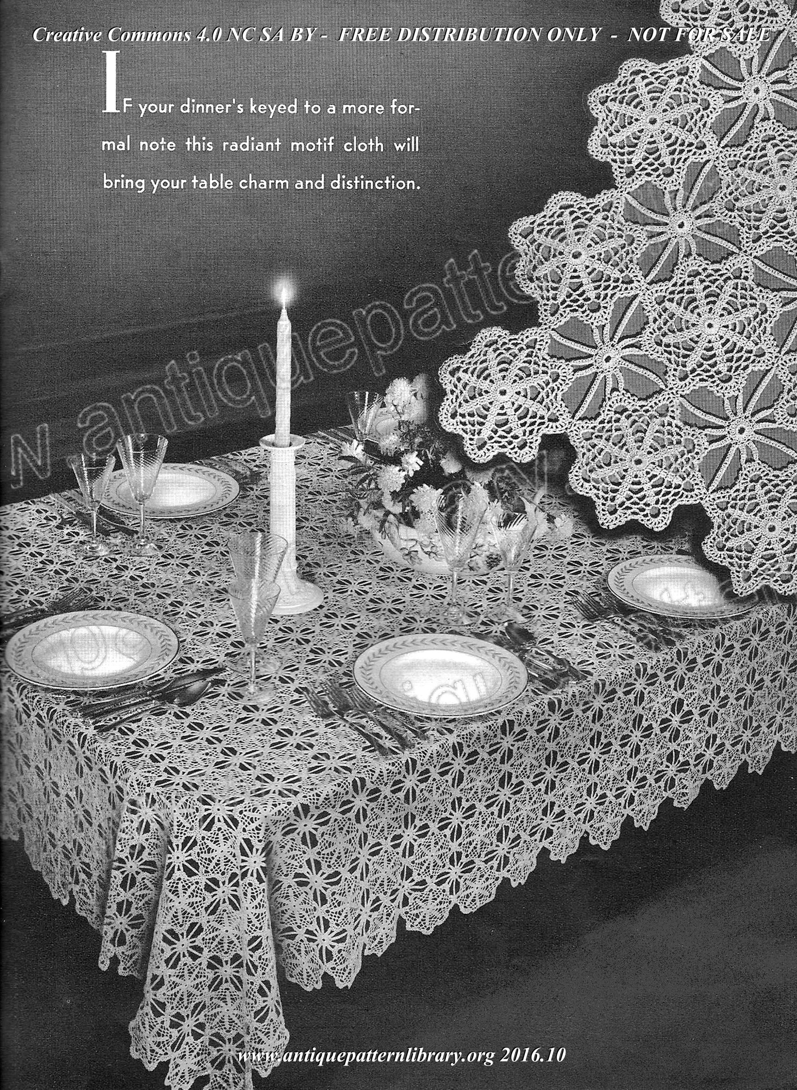G-GH001 Crocheted Tablecloths and Luncheon Sets