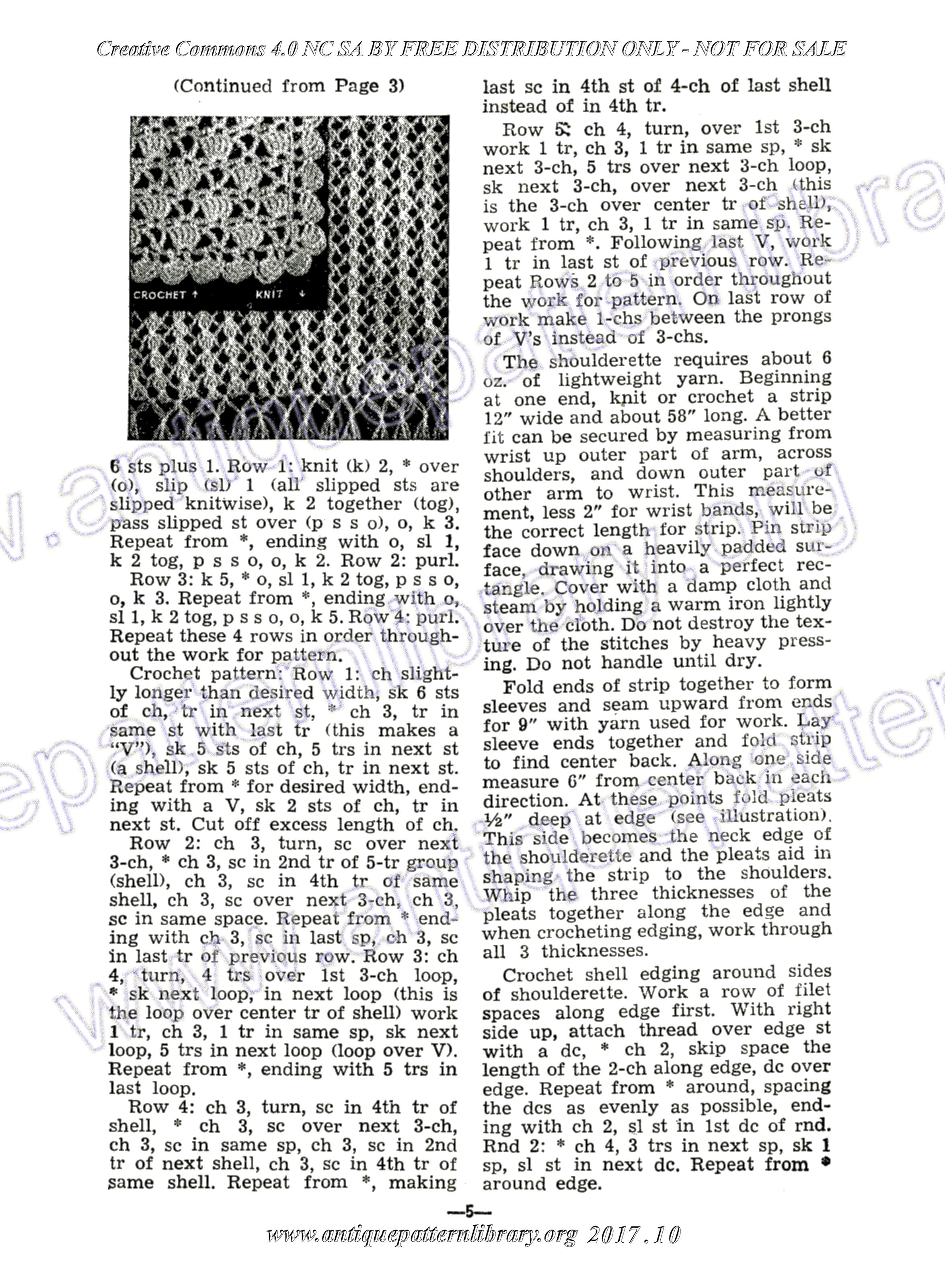 Apl Page 5 Knitted Or Crocheted Shoulderette Shawl