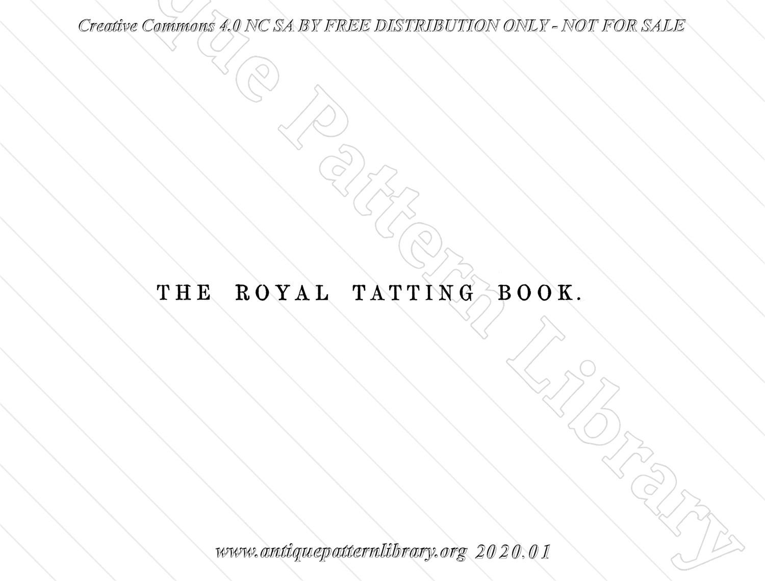 K-ME001 The Royal Tatting Book