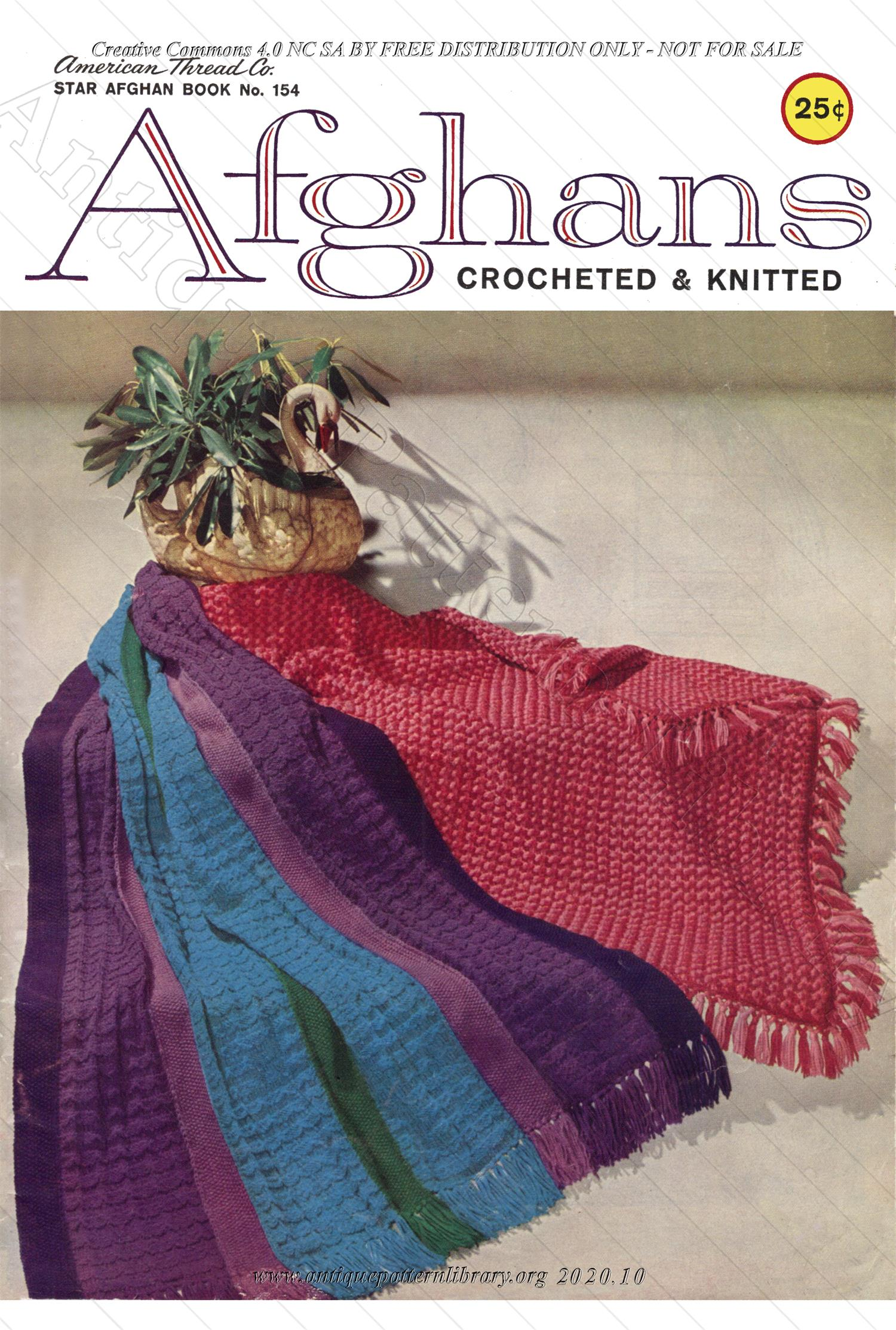 K-SB003 Afghans, Crocheted & Knitted